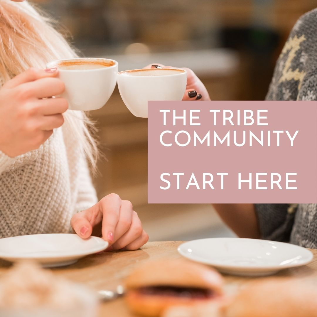 image if two ladies enjoying coffee in the Thrive Tribe Facebook community
