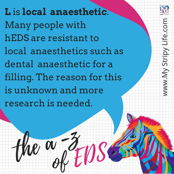 L is for local anaesthetic